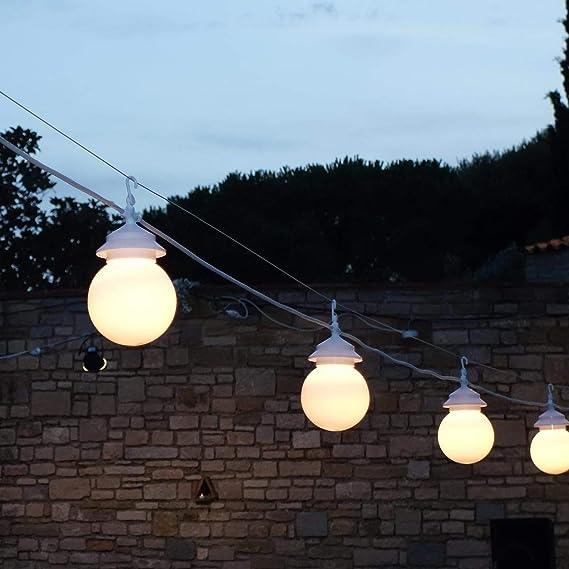 Lumisky G22/25 - Guirnalda de luces (10 bombillas led, 25 W, E27 ...