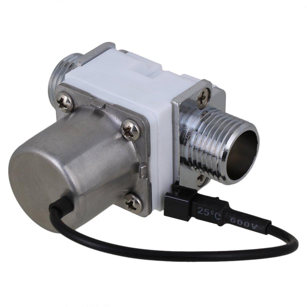 BQLZR 1//5,1 cm 6 V CC Blanc /électrique /Électrovanne D/ébit de leau Impulsion /électromagn/étique Valve Eau commutateur de commande