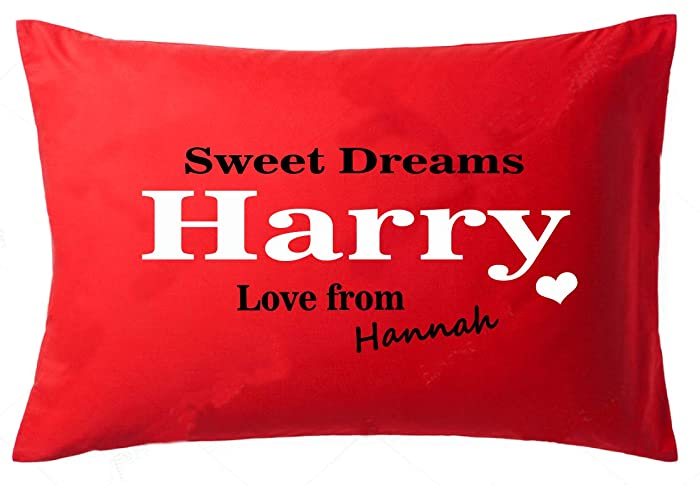 Romantic Gift for Husband Personalised Valentines Gift for Him Cotton pillow Anniversary Gifts: Amazon.co.uk: Handmade