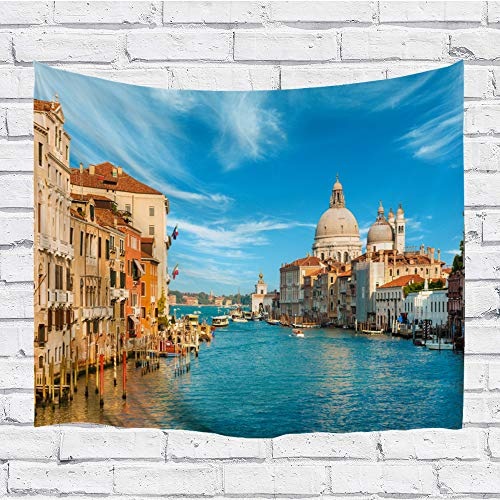 - Ortigia Tapestry Wall Hanging Home Decor Scenery Theme for Living Room Bedroom Dorm Room Polyester Fabric Needles Included - 90
