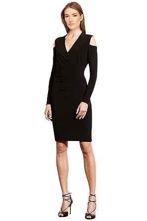 Lauren Ralph Lauren Petite Cutout Shoulder Jersey Surplice Dress