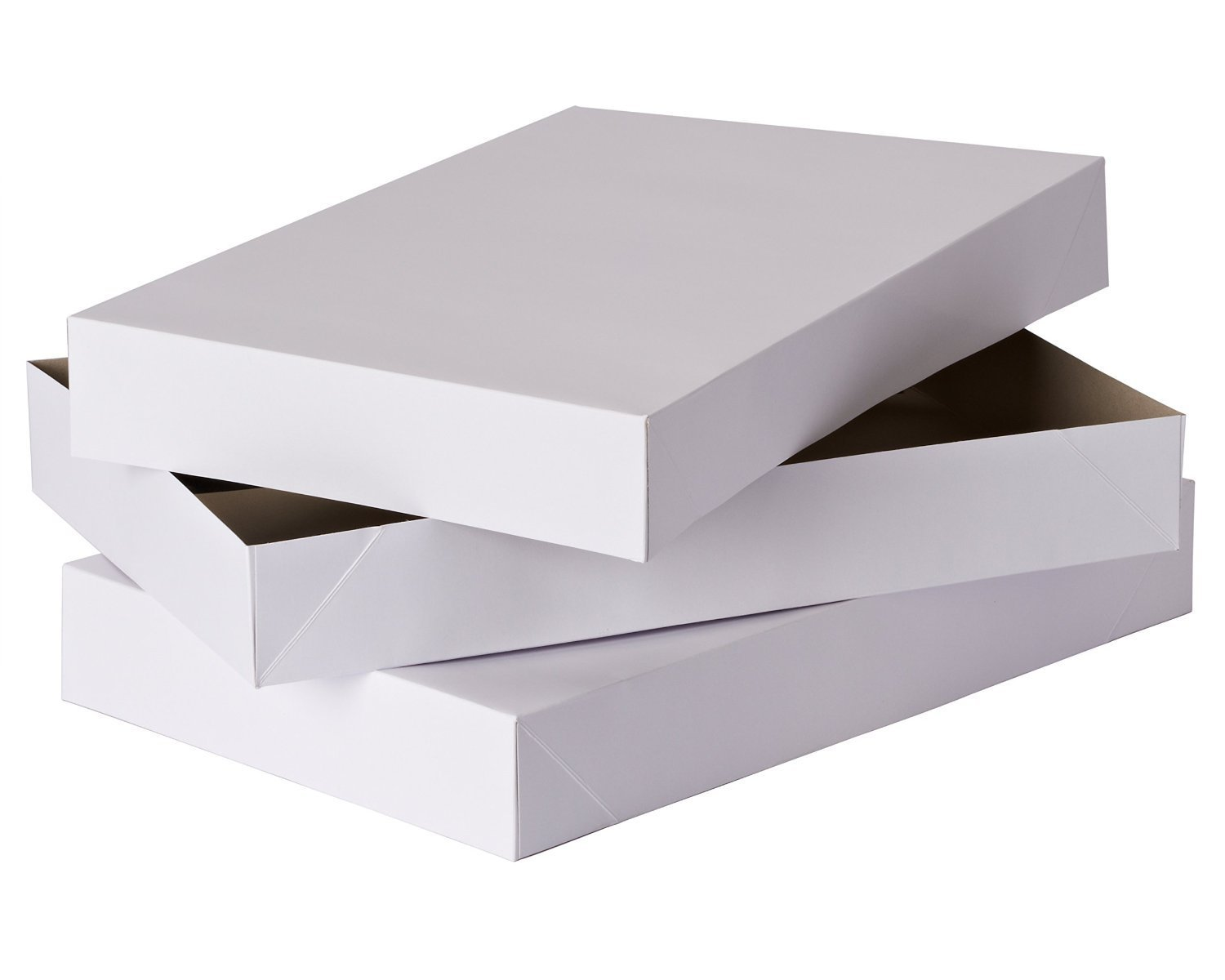 19 x 14.25 x 4 Inches 2 Coat White Gift Boxes