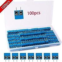 RUNCCI 100 Piezas 5mm 2 Pines conector pcb