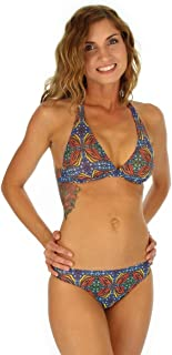 product image for TOP ONLY tan Through Bikini Halter top