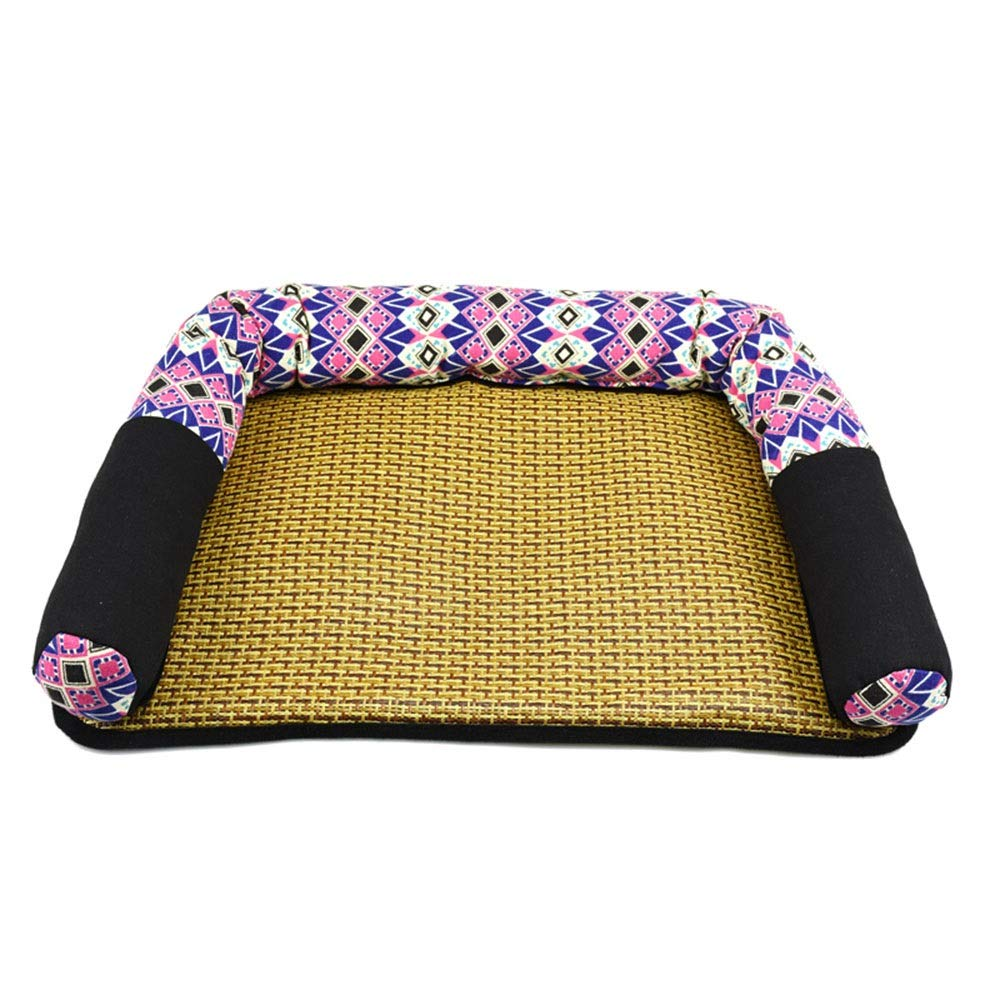 B 54X39X10CM B 54X39X10CM Xiao Jian- Pet Nest Kennel Cool Nest Pet Nest Cushion Removable Wash Mat Teddy Small And Small Kennel Cat Litter Dog Sofa Bed pet bed (color   B, Size   54X39X10CM)
