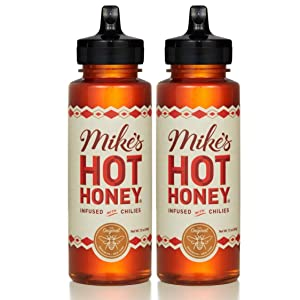 Mike's Hot Honey, 12 oz Squeeze Bottle (2 Pack), Honey with a Kick, Sweetness & Heat, 100% Pure Honey, Gluten-Free & Paleo