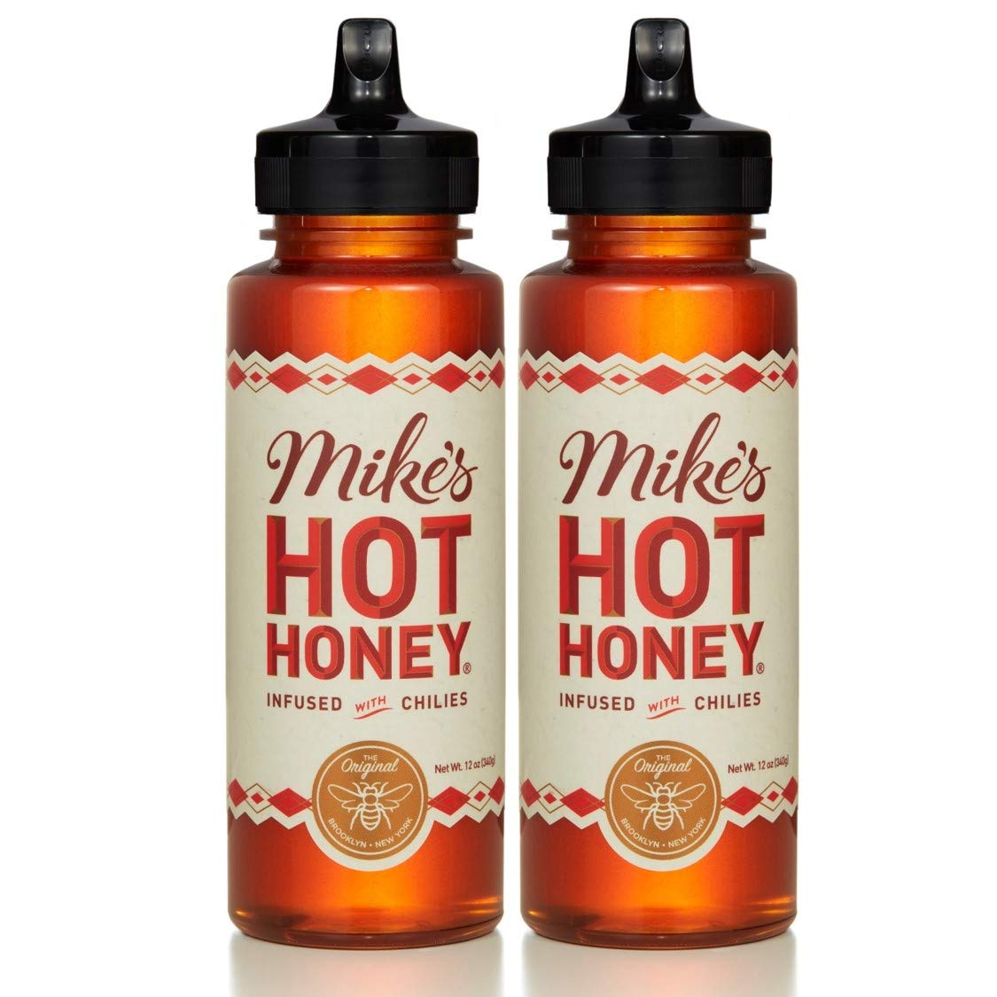 Mike's Hot Honey 12 oz. (2 Pack) | Spicy & Sweet | Sustainably Sourced USA Honey | Paleo & Gluten-Free | Perfect on Pizza, BBQ, Veggies, & More!