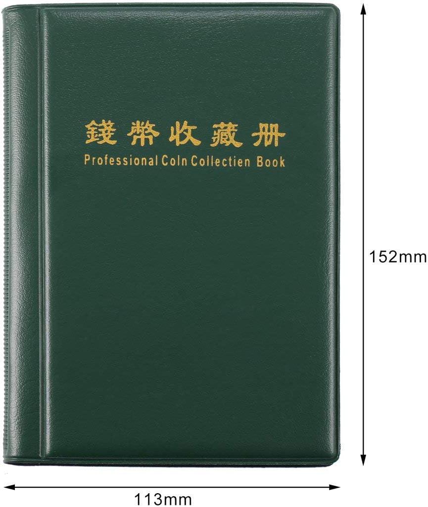 Fantasyworld Collection de pi/èces 120 Livre Porte-Monnaie Scrapbooking Album Penny Argent Stockage Tenir Poches