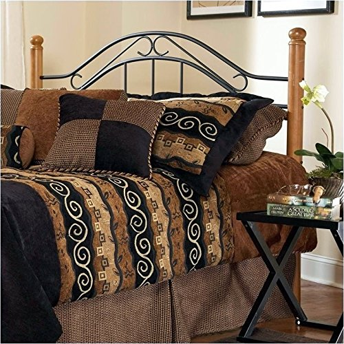 Hawthorne Collections King Poster Spindle Headboard in Black and (Black Wrought Iron Headboard)