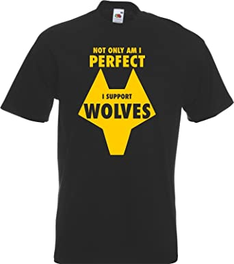 823d513d46c Moon Printed Clothing Perfect Wolves Fan Supporter T-Shirt Football FC  Wanderers Molineux: Amazon.co.uk: Clothing