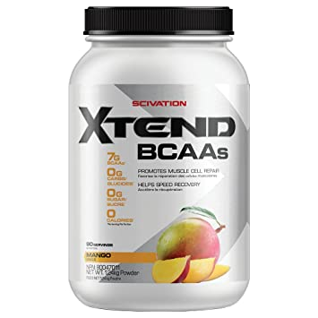 Scivation Xtend BCAA Powder, Branched Chain Amino Acids, BCAAs, Mango, 90 Servings