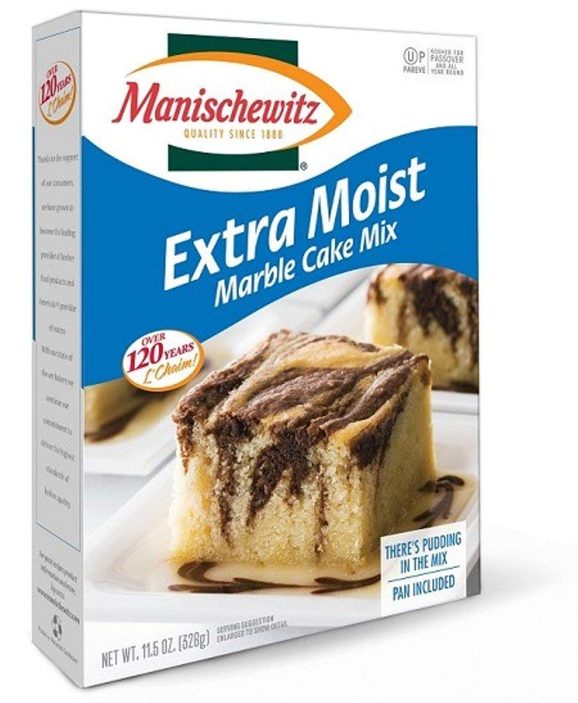 Manischewitz Extra Moist Cake Marble Cake Mix ~ 11.5 oz (Single Pack) by Manischewitz (Image #1)
