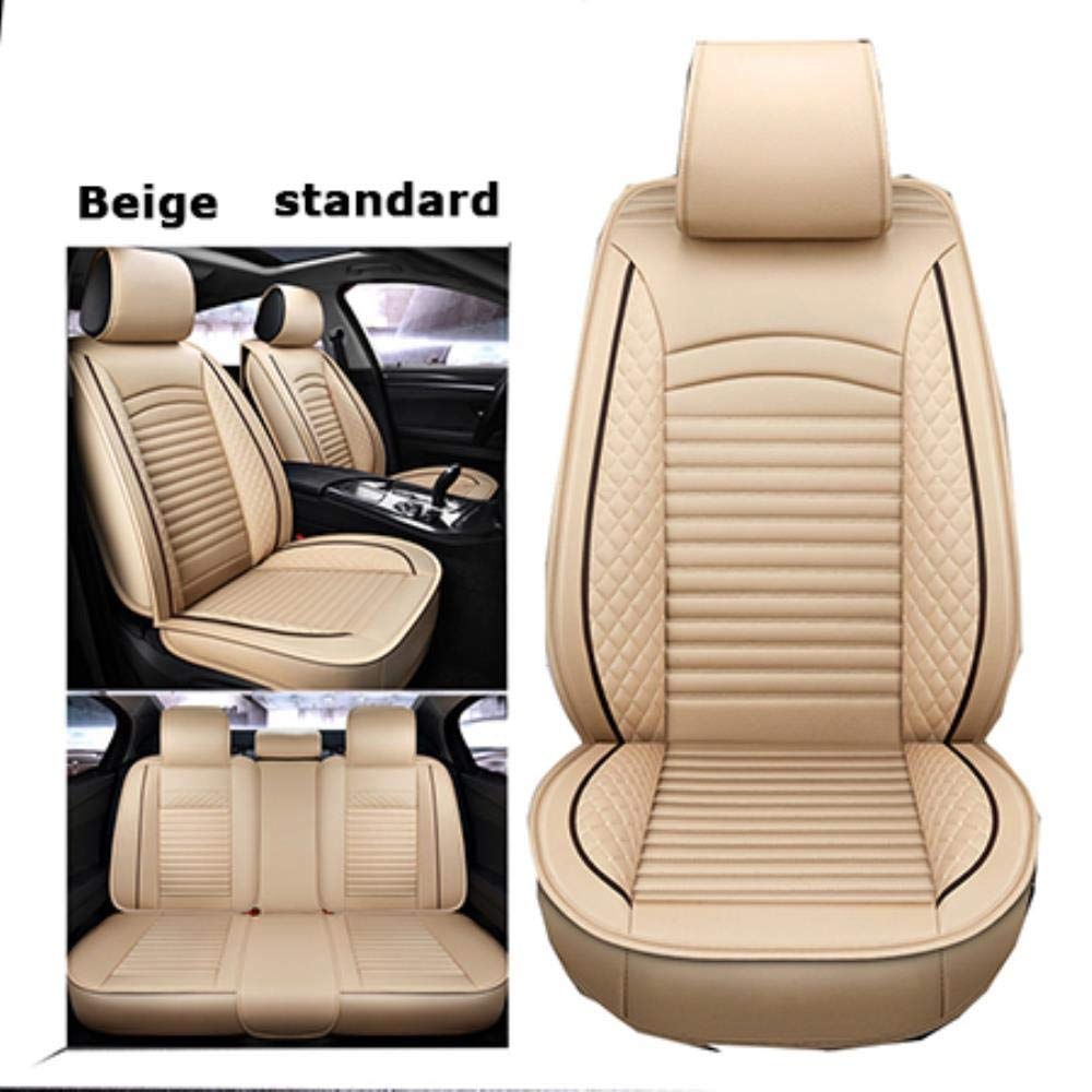 LUOLONG Quality Comfortable leather universal car seat covers for Ssangyong all model Actyon Kyron Tivolan Rexton korando auto styling accessories,Black White