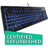 SteelSeries Apex 100 Gaming Keyboard - Tactile & Silent - Blue LED Backlit - Splash Resistant