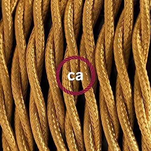 Cavo RC35 Cotone Rosso Fuoco 1,80 m Creative-Cables Cablaggio per Lampada Scegli Il Colore dellinteruttore e della Spina - Bianco