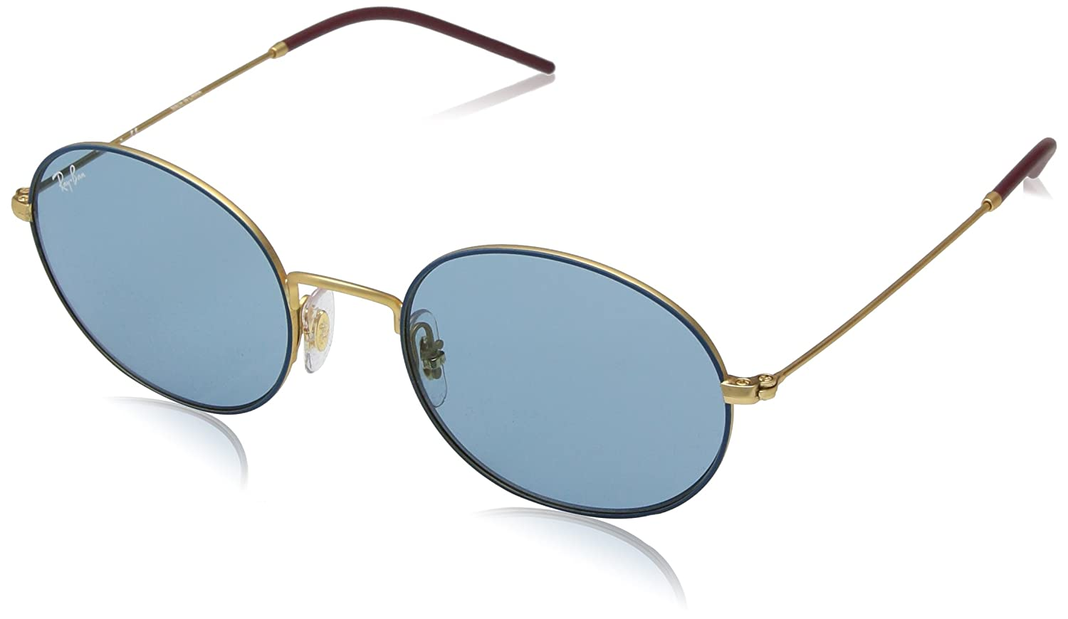 e424e9d18d Amazon.com  Ray-Ban 0rb3594 Oval Sunglasses GOLD ON TOP BLUE 53 mm  Clothing