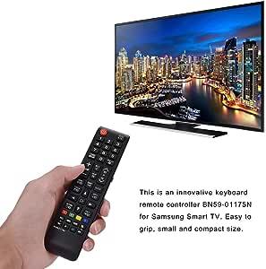 Diyeeni Controlador Remoto con Teclas de navegación de menú dedicadas, reemplazo del Controlador de Control Remoto Universal Smart TV BN59-01175N para Samsung, Duradero: Amazon.es: Electrónica