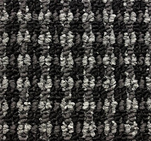 Round 7' Tahoe Charcoal Indoor Durable Level Loop Area Rug with a Repeat Pattern for the Home