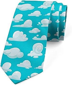Corbata, dibujos animados infantiles del cúmulo del cielo, azul ...