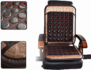 WLKQ Infrared Heating Pad for Car Seat - Far Infrared Heating Pad - with Jade Tourmaline Tension and Muscle Relaxation Hot Stone Therapy