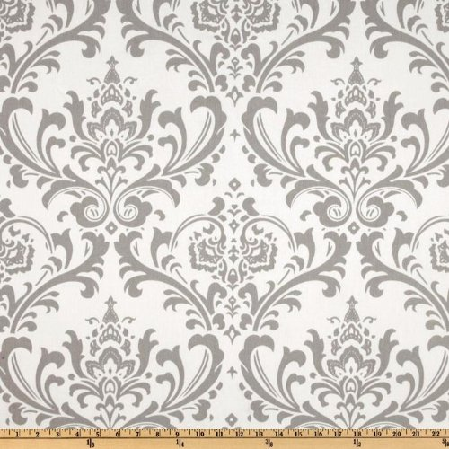 Premier Prints Grey Traditions Twill Storm (Material Damask)