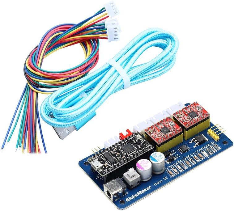 KKmoon Se Xy 2 Eje Paso A Paso Motor Conductor Controlador Control Del Tablero Panel por Bricolaje Láser Grabador: Amazon.es: Bricolaje y herramientas