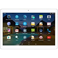 Android 7.0 Nougat Tablet 10 Inch with Dual Sim Card Slots Octa Core 3G Unlocked Phone Tablet 2GB RAM 32GB ROM Built in WiFi Bluetooth GPS Netflix (Silver)