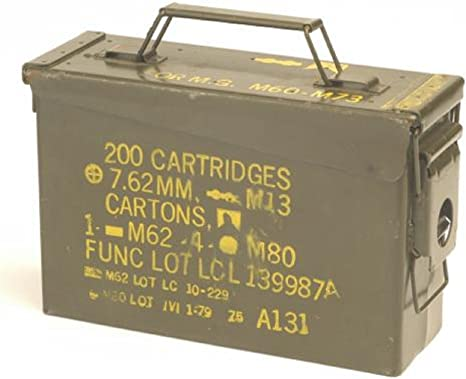 Caja original de munición usada de los EE.UU.-Caja metálica para ...