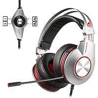 PS4 Gaming Auriculares para Juegos de PC con Micrófono, NUBWO Auriculares Estéreo de con Control de Volumen de Micrófono para Xbox One, Xiberia Ordenador Portátil Mac PlayStation 4 USB