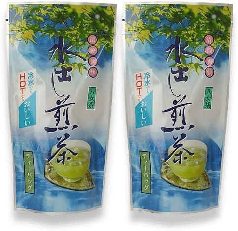 お茶 水出し 煎茶 冷茶 ティーバッグ 八女 5g×16 2袋セット 八女茶の里