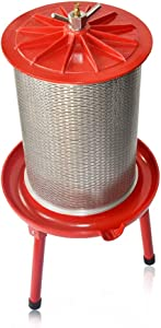 Hydraulic Fruit Wine Apple Press -5.3Gallon/20L -Stainless Steel for Wine Cider Making with Filter Bag&Splash Guard