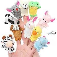 Negi Animal Finger Puppet, Multi Color (Pack of 10)
