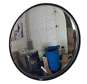 "See All SS26 Convex Mirror, Stainless Steel Face, Board Back, Indoor Use, 26 "" Diameter"