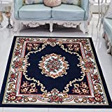 European bedroom living room coffee mat / bed front room sofa carpet mattress rectangular home decoration ( Color : Blue , Size : 200278cm )
