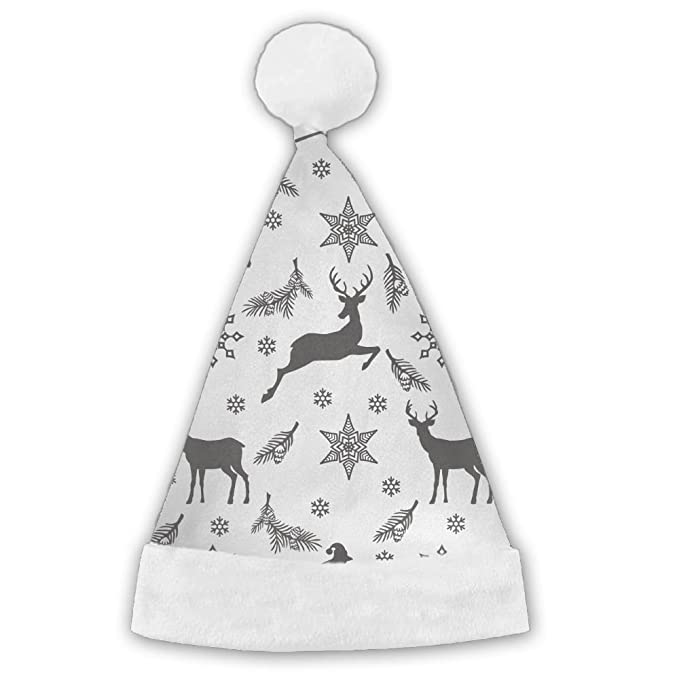f8035aa5d17 Image Unavailable. Image not available for. Color  Bdna Velvet Santa Claus  Hat Christmas Deer Snowflake Merry Christmas Hats Adults Children Costume  ...