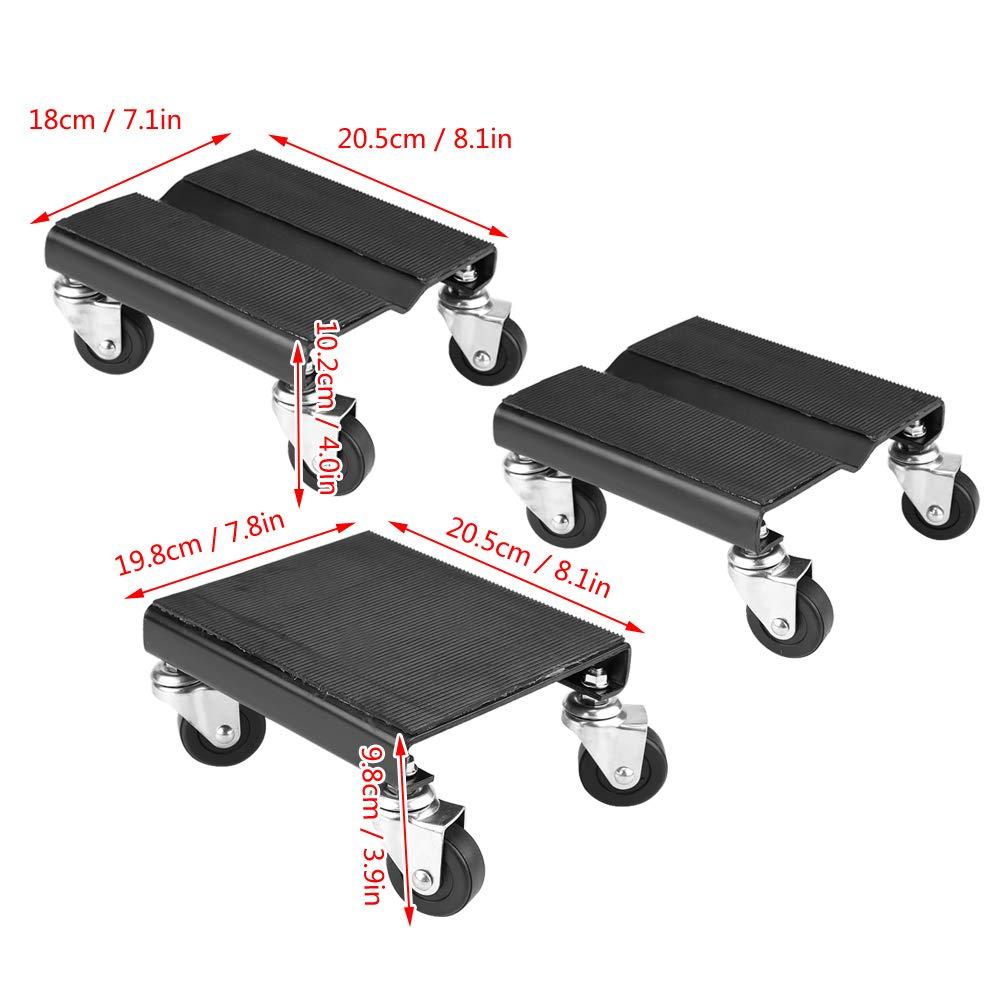 Juego de 3 ruedas de almacenamiento para ruedas de coche capacidad de 1500 libras para reparaci/ón de motonieves y motonieve