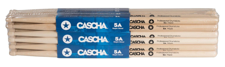 CASCHA HH 2032 - Baquetas profesionales para batería, 5A, 1 par (2 piezas), madera de arce: Amazon.es: Instrumentos musicales