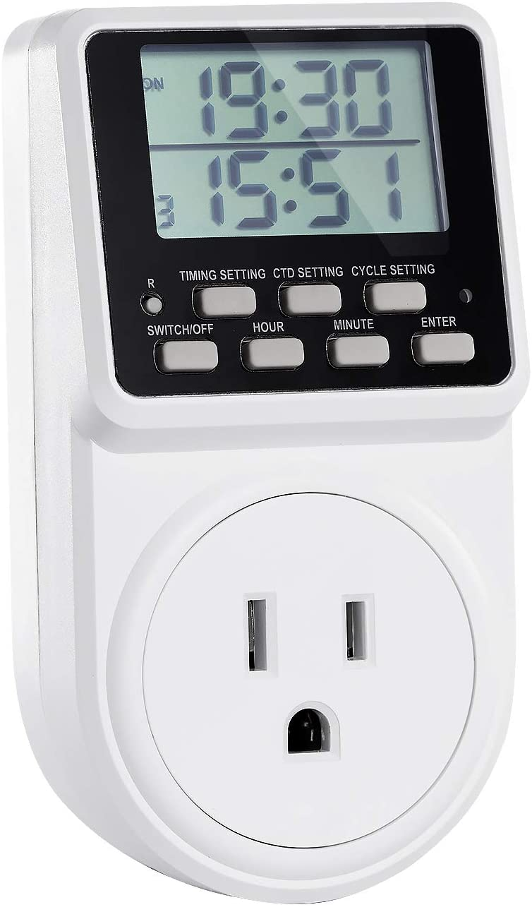 24 Hour Programmable Mechanical Timer Switch Mains Plug Home Socket