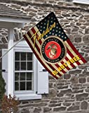 Brotherhood Marines Freedom Isn't Free Decorative House Flag