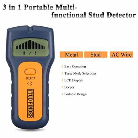 Stud Finder, Alotm 3 in 1 Multi-Function Wall Stud Sensor Detector with LCD