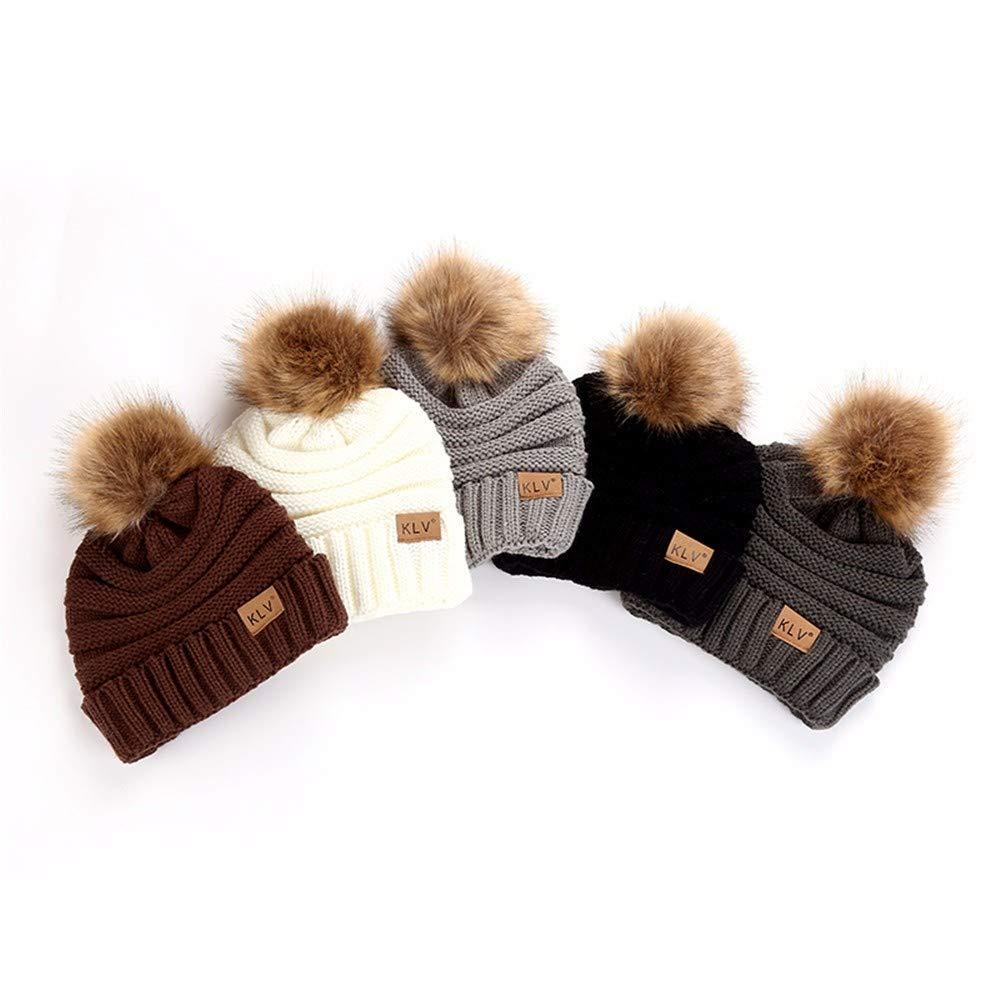Musommer Men Women Baggy Warm Crochet Winter Wool Knit Ski Beanie Skull Slouchy Caps Fashion Accessories (111cm, Black)