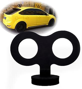 Car 3D EVA Wind Up Key Black Cute Clockwork Wind Up Key for Car Motorcycle