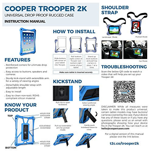 Cooper Trooper 2K Rugged case Compatible with Huawei Mediapad 10