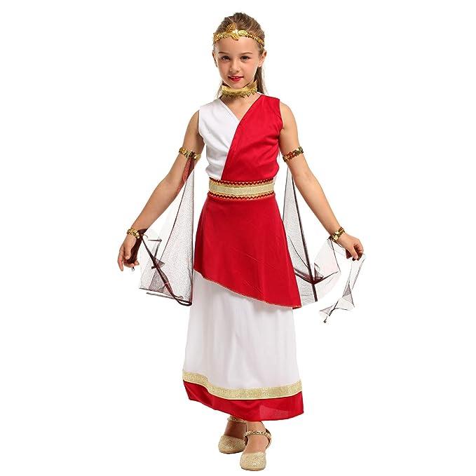 Amazon.com: Disfraz de emperatriz romana para niña ...