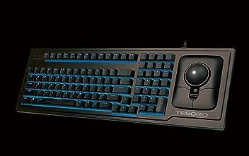 Tesoro G6TL Ergonomic Backlit Mechanical Keyboard with Optical Trackball Mouse