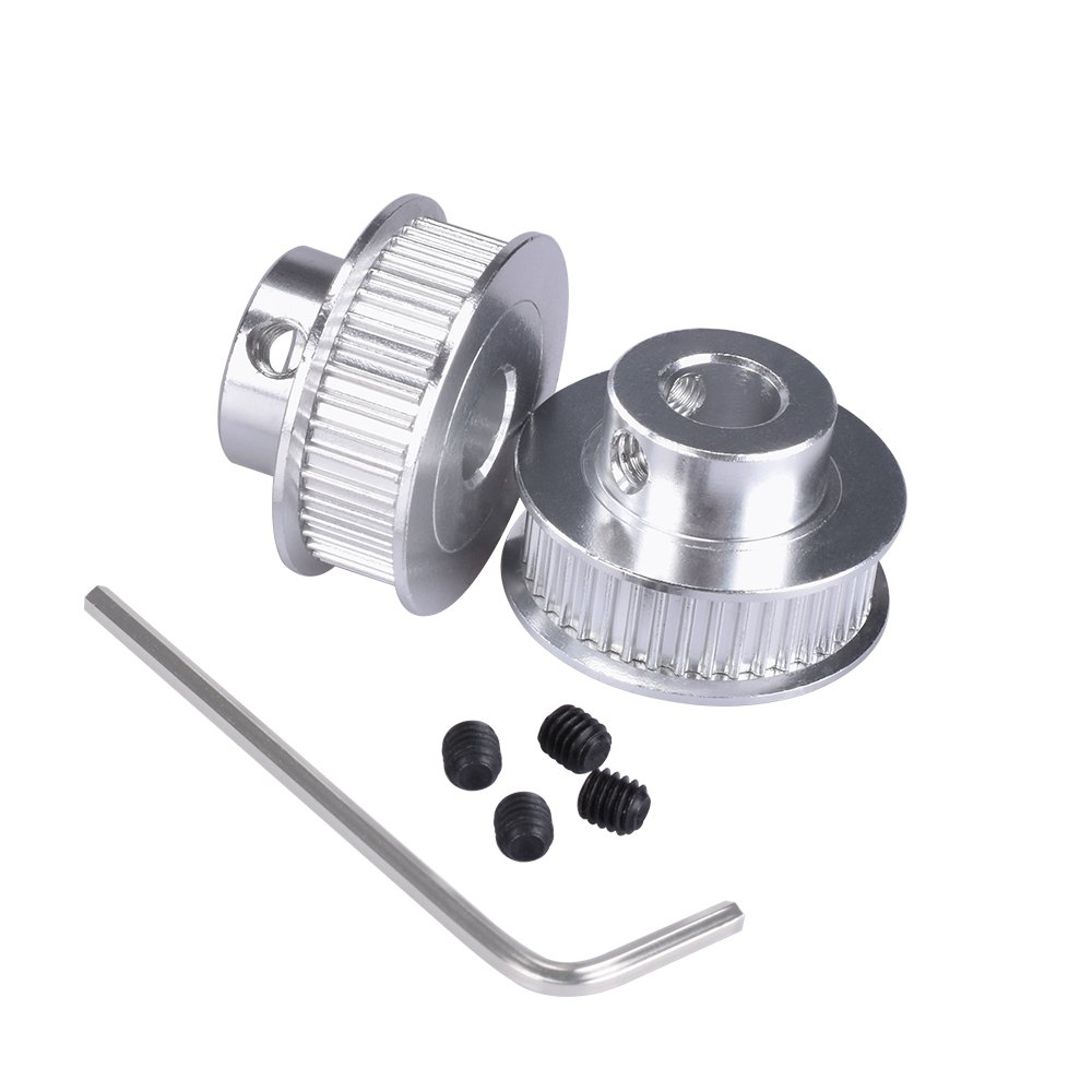 KINGPRINT GT2 Timing Pulley Aluminum Bore 40 teeth 8mm for Width 6mm for 3D Printer Parts(Pack of 2pcs)