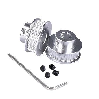 King Print GT2 - Polea de aluminio para impresora 3D (2 unidades ...