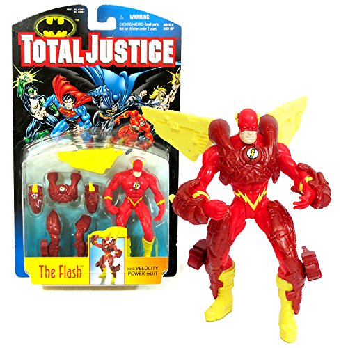 - Batman Kenner Year 1996 DC Comics Total Justice Series 5 Inch Tall Action Figure - The Flash with Velocity Power Suit (Chest Plate, 2 Leg Thrusters, 2 Arm Flash, and Pair of Stabilizers)