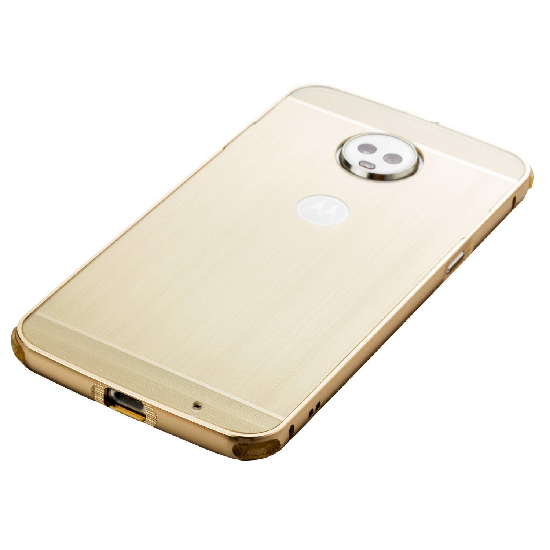 DAMONDY Moto Z3 Play Case, Luxury Ultra thin Imitation Metal Brushed Premium Aluminum Shockproof Protective Bumper Hard Back Case Cover for Motorola Moto Z3 Play-Silver by DAMONDY (Image #5)