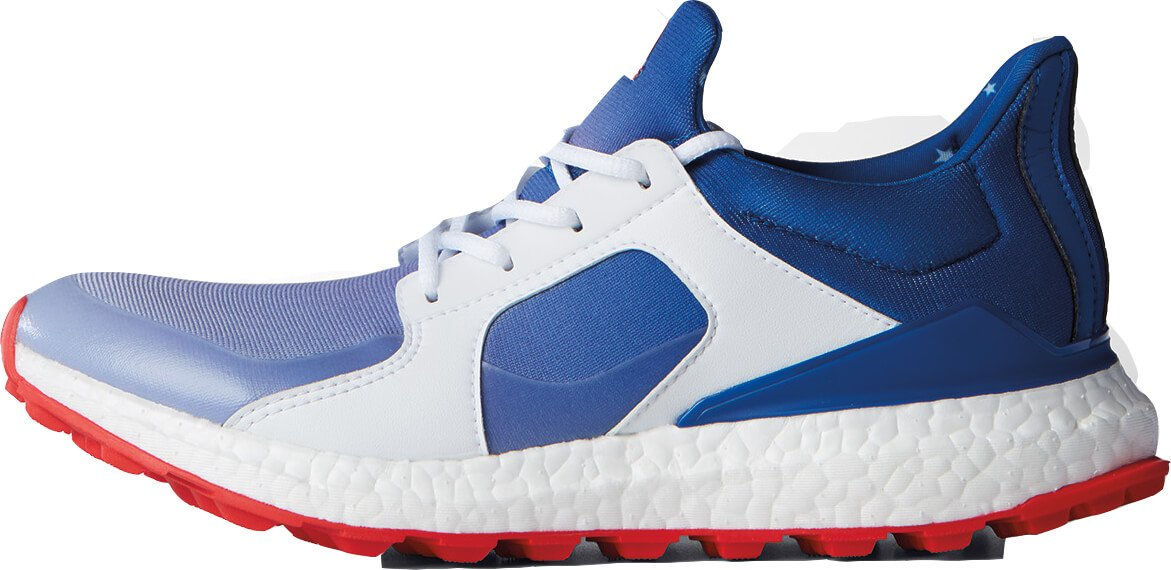 Adidas Climacross Boost US Open Spikeless Golf Shoes 2017 Women Red/White/Blue Medium 9